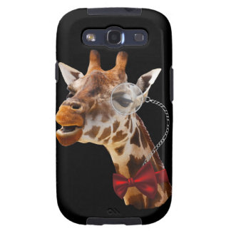 Funny Giraffe with Bowtie and Monocle Samsung Galaxy SIII Case