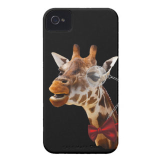 Funny Giraffe with Bowtie and Monocle Case-Mate iPhone 4 Case