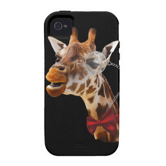Funny Giraffe with Bowtie and Monocle iPhone 4/4S Covers