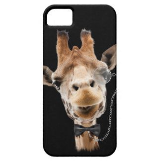 Funny Giraffe with Bowtie and Monocle iPhone 5 Cases