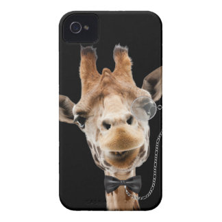 Funny Giraffe with Bowtie and Monocle iPhone 4 Cover