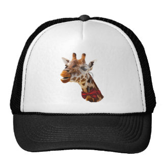 Funny Giraffe with Bowtie and Monocle Trucker Hat
