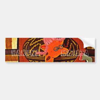 Funny Giraffe with cool text Hakuna Matata Bumper Sticker