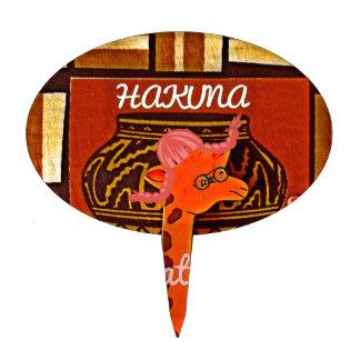 Funny Giraffe with cool text Hakuna Matata Cake Topper