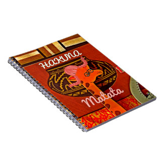 Funny Giraffe with cool text Hakuna Matata Notebook