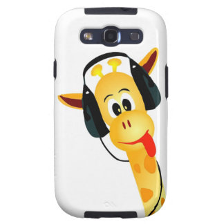 funny giraffe with headphones samsung galaxy s3 covers