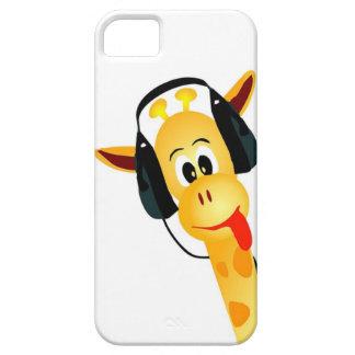 funny giraffe with headphones iPhone SE/5/5s case
