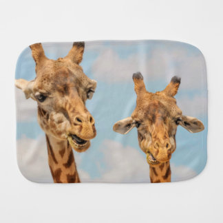 Funny Giraffes Baby Burp Cloth