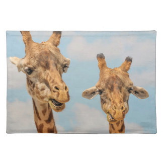 Funny Giraffes Cloth Placemat