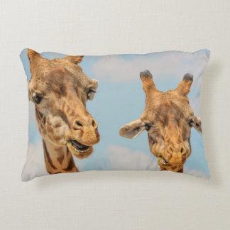 Funny Giraffes Decorative Pillow