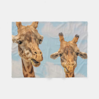 Funny Giraffes Fleece Blanket