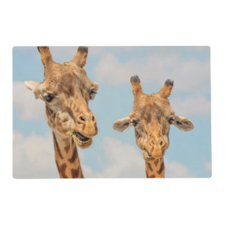 Funny Giraffes Placemat