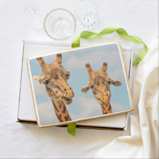 Funny Giraffes Shortbread Cookie