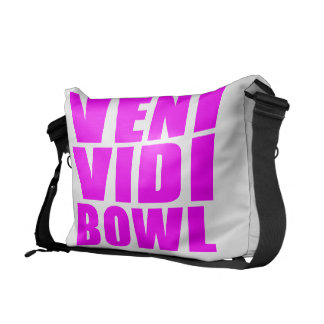 Funny Girl Bowling Quotes : Veni Vidi Bowl Courier Bag