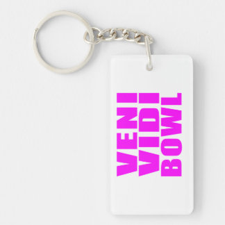 Funny Girl Bowling Quotes : Veni Vidi Bowl Keychain