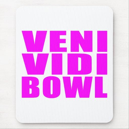 Funny Girl Bowling Quotes : Veni Vidi Bowl Mousepad