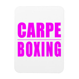 Funny Girl Boxers Quotes  : Carpe Boxing Rectangular Magnets
