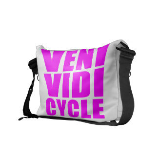 Funny Girl Cycling Quotes : Veni Vidi Cycle Messenger Bag