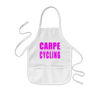 Funny Girl Cyclists Quotes  : Carpe Cycling Kids' Apron