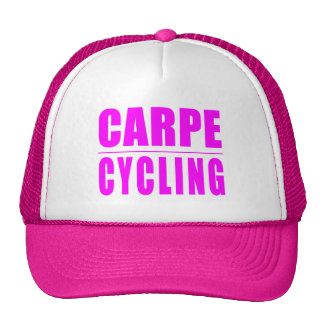 Funny Girl Cyclists Quotes  : Carpe Cycling Trucker Hat