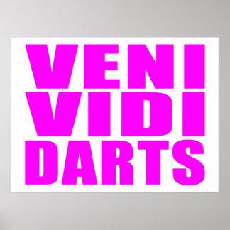 Funny Girl Darts Players Quotes : Veni Vidi Darts Poster