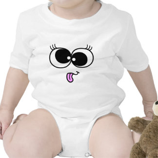 Funny Girl Face Rompers