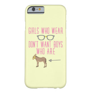 Funny Girl Glasses Nerd Humor 2 Barely There iPhone 6 Case