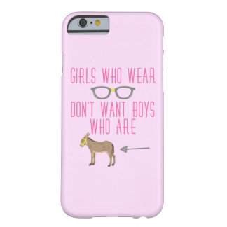 Funny Girl Glasses Nerd Humor Barely There iPhone 6 Case