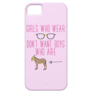Funny Girl Glasses Nerd Humor iPhone SE/5/5s Case
