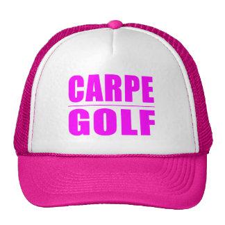 Funny Girl Golfers Quotes  : Carpe Golf Trucker Hat