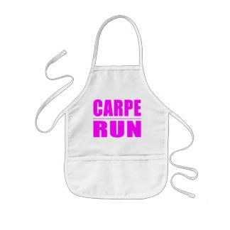 Funny Girl Runners Quotes  : Carpe Run Kids' Apron