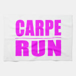 Funny Girl Runners Quotes  : Carpe Run Hand Towel