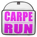 Funny Girl Runners Quotes  : Carpe Run MacBook Pro Sleeve