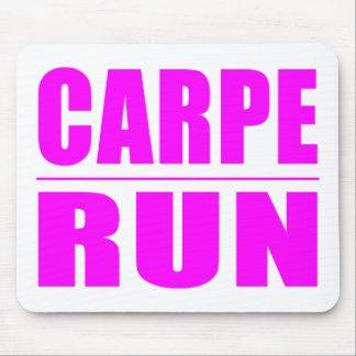 Funny Girl Runners Quotes  : Carpe Run Mousepad
