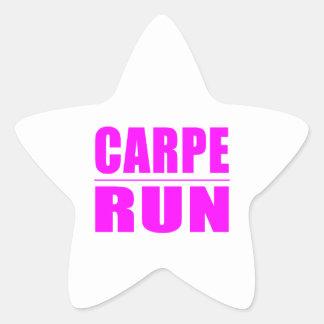 Funny Girl Runners Quotes  : Carpe Run Star Sticker