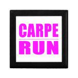 Funny Girl Runners Quotes  : Carpe Run Trinket Box