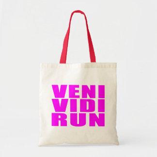 Funny Girl Running Quotes : Veni Vidi Run Tote Bag