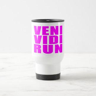 Funny Girl Running Quotes : Veni Vidi Run Coffee Mugs
