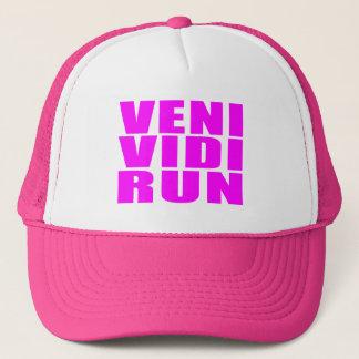 Funny Girl Running Quotes : Veni Vidi Run Trucker Hat