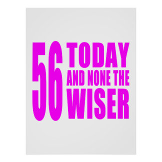 Funny Girls Birthdays  56 Today and None the Wiser Poster