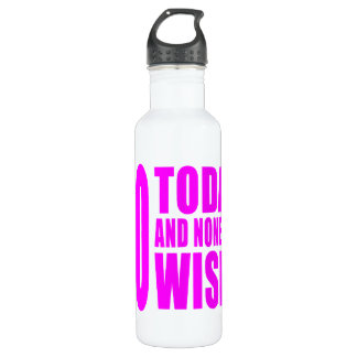 Funny Girls Birthdays  60 Today and None the Wiser 24oz Water Bottle