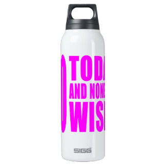 Funny Girls Birthdays  60 Today and None the Wiser 16 Oz Insulated SIGG Thermos Water Bottle