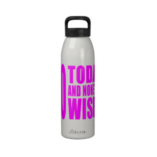 Funny Girls Birthdays  60 Today and None the Wiser Reusable Water Bottles