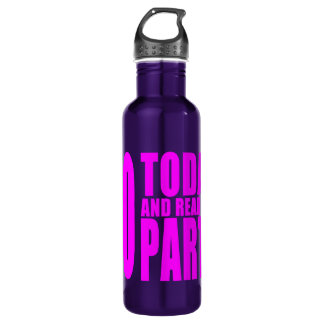 Funny Girls Birthdays  60 Today and Ready to Party 24oz Water Bottle