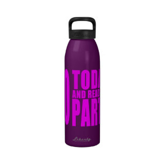 Funny Girls Birthdays  60 Today and Ready to Party Reusable Water Bottles
