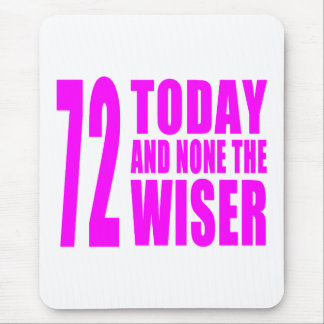 Funny Girls Birthdays  72 Today and None the Wiser Mouse Pad