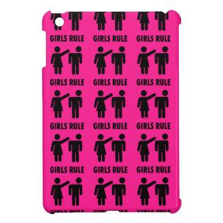 Funny Girls Rule Hot Pink Feminist Gifts iPad Mini Covers