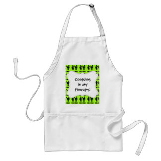 Funny Girls Rule Neon Lime Green Girl Power Aprons