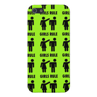 Funny Girls Rule Neon Lime Green Girl Power iPhone 5 Cover