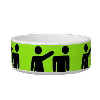 Funny Girls Rule Neon Lime Green Girl Power Cat Food Bowls